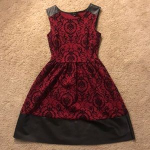 Black and red dress
